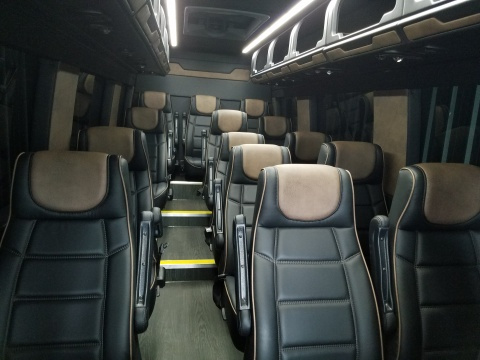Mercedes Sprinter Limo Luxury 14 Passenger Seating