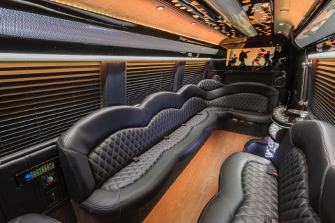 Mercedes Sprinter Limo Leather Seating